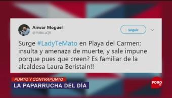 Foto: Redes Sociales Noticias Falsas #LadyTeMato 19 de Marzo 2019