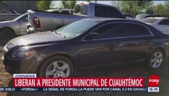 FOTO:Liberan a presidente municipal de Cuauhtémoc, Chihuahua, 24 Marzo 2019