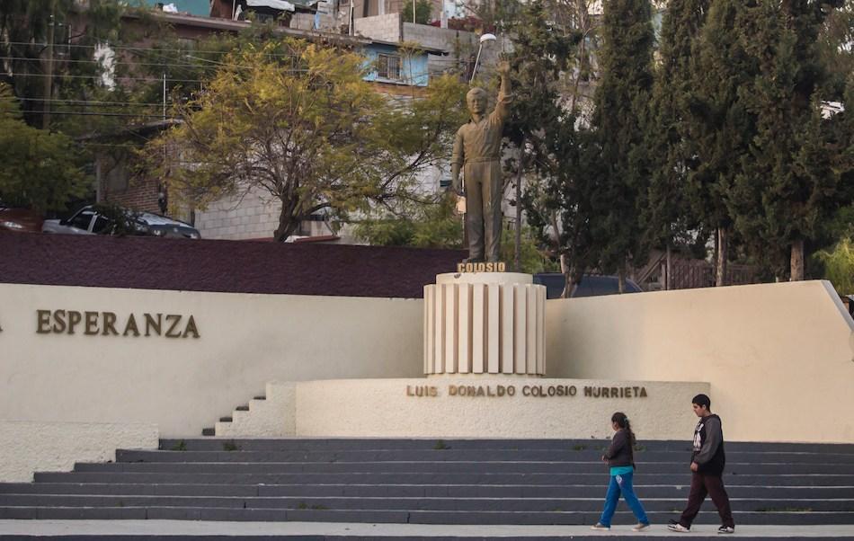 Foto monumento memoria Colosio Tijuana 4 marzo 2019