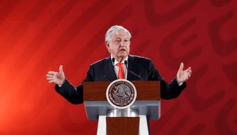 Foto: El presidente López Obrador durante conferencia de prensa, 7 de marzo de 2019, Ciudad de México, México