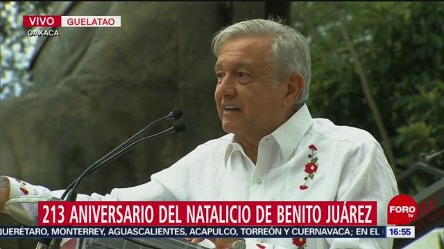 Foto: López Obrador conmemora el natalicio de Benito Juárez