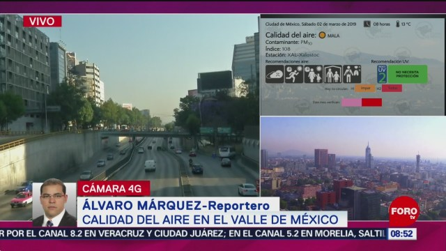 FOTO: Mala calidad del aire en el Valle de México, 2 marzo 2019