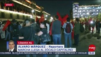 Foto: Manifestantes Llegan Zócalo Cdmx 14 de Marzo 2019