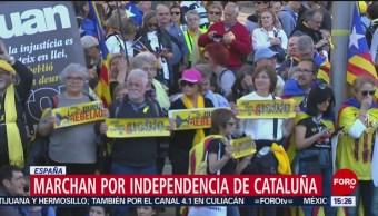 FOTO: Marchan por independencia de Cataluña, 16 marzo 2019