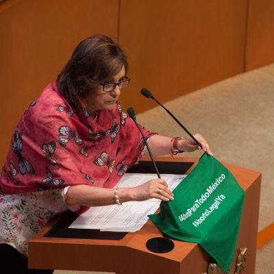 Senadoras de Morena defienden derecho al aborto tras oposición de Lilly Téllez