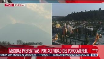 Foto: Medidas Preventivas Actividad Popocatépetl Puebla Volcan 29 de Marzo 2019