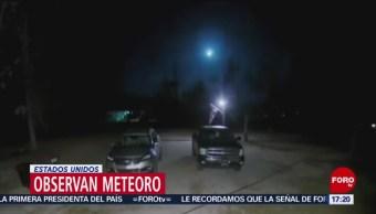 FOTO: Meteoro atraviesa el cielo en Estados Unidos, 31 Marzo 2019