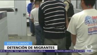 Migrantes con antecedentes penales serán detenidos en Estados Unidos