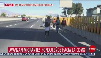 Migrantes hondureños avanzan a la CDMX