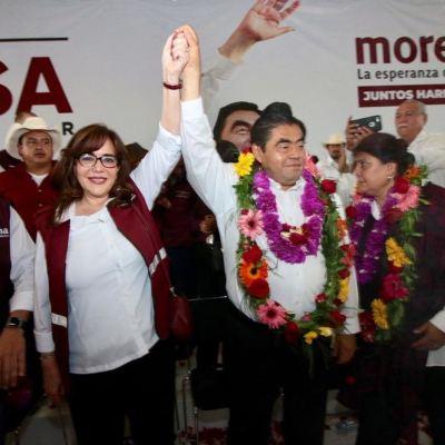 Puebla y Baja California inician campañas para gubernatura