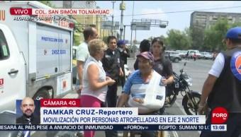 Foto: Movilización de socorristas por atropellamiento en colonia Tolnáhuac