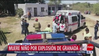 FOTO: Muere menor de edad por explosión de granada en Guamúchil, Sinaloa, 3 marzo 2019