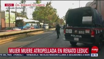 Muere mujer atropellada en la alcaldía Coyoacán, CDMX