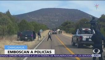 Mueren dos policías por emboscada en Chihuahua