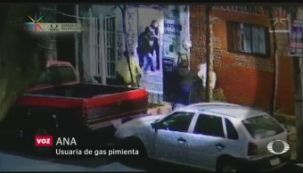 Foto: Mujer Asalto Usando Gas Pimienta 15 de Marzo 2019