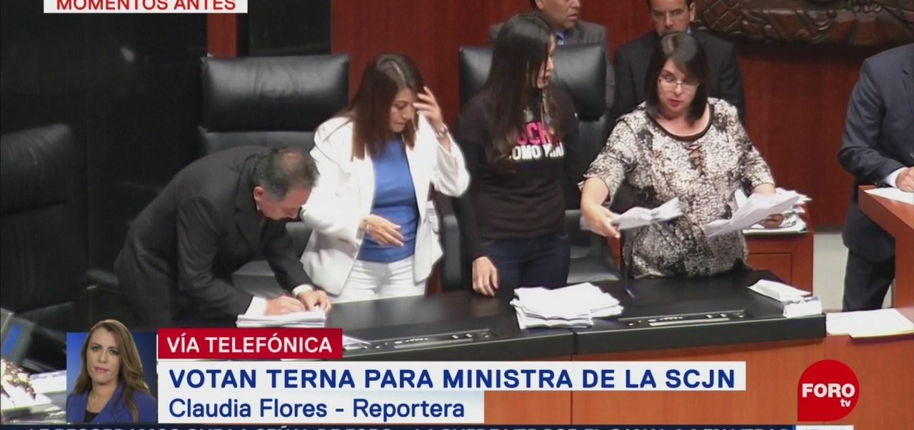 Foto: No logran consenso en primera ronda de votación para ministra de la SCJN