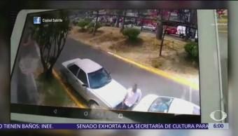 Hombre roba batería de un automóvil en Naucalpan, Edomex