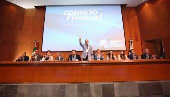 Foto: En este Consejo, el PAN nombró una comisión extraordinaria que se dedicará a la revisión de sus estatutos, el 23 de marzo de 2019 (Twitter @MarkoCortes)