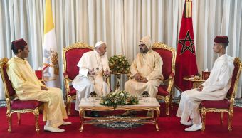 Foto: El papa Francisco llega a Rabat, Marruecos 30 marzo 2019