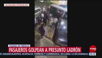 Foto: Pasajeros Golpean Ladrón Iztacalco CDMX 7 de Marzo 2019