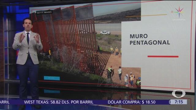 Pentágono autoriza mil mdd para muro en frontera con México