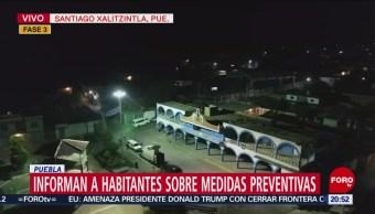 Foto: Piden a habitantes tomar medidas preventivas por volcán Popocatépetl