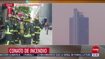 Planta de luz generó humo en Torre Bancomer CDMX