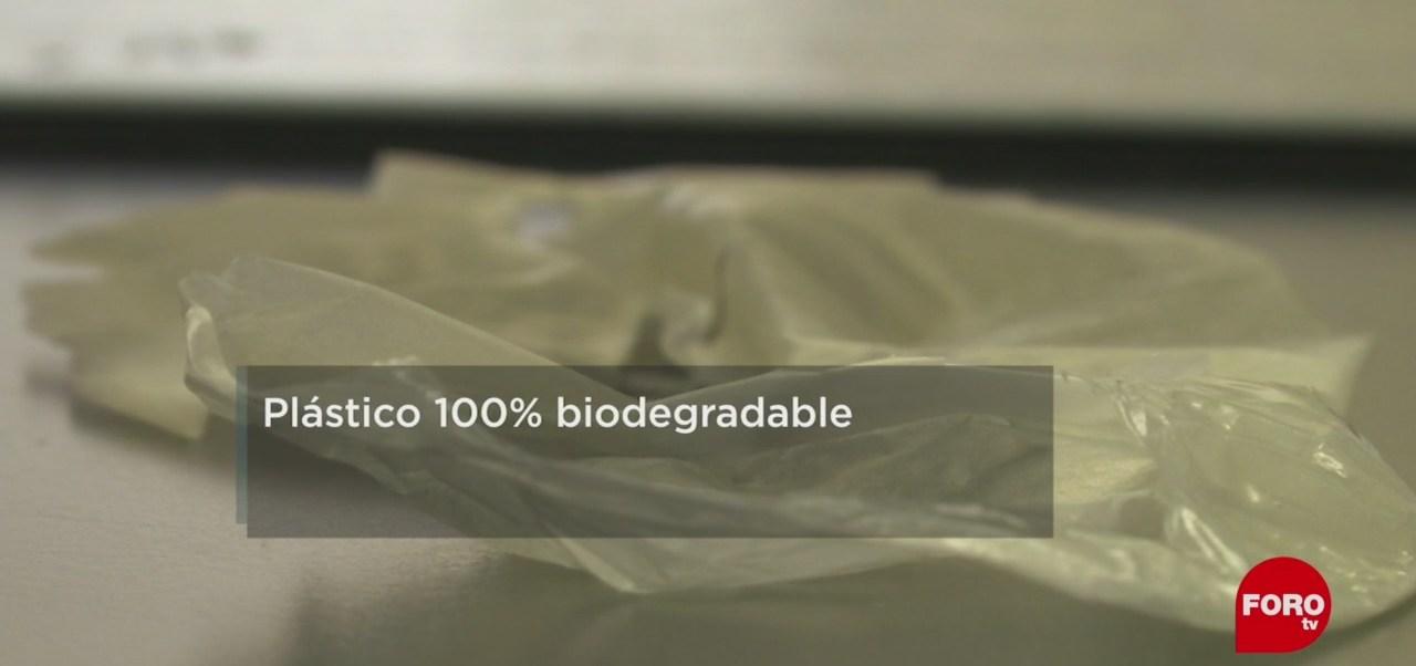 FOTO: Plástico 100% biodegradable, 16 marzo 2019