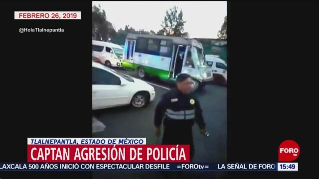 Foto: Policía agrede unidad de trasporte cuyo chofer no pagó 'mordida'