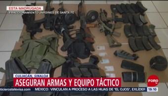 FOTO: Policías detienen a 2 personas tras ataque en Sinaloa, 16 marzo 2019