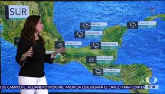 Prevén tormentas muy fuertes en sureste del país