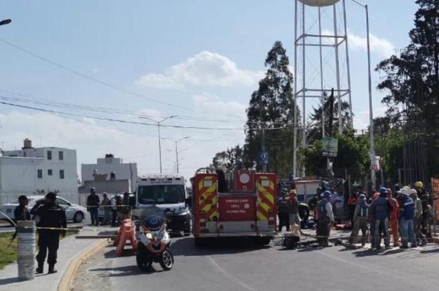 Desplome de obra en Puebla deja un trabajador muerto