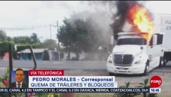 Foto: Queman 5 tráileres y bloquean carretera en Córdoba, Veracruz