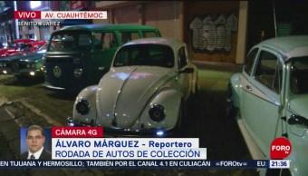 FOTO: Realizan rodada de autos de colección en la CDMX, 24 Marzo 2019