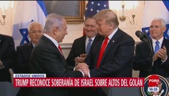 Foto: Reconoce Trump soberanía sobre los Altos de Golán