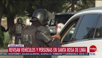 Foto: Refuerzan seguridad en Santa Rosa de Lima, Guanajuato