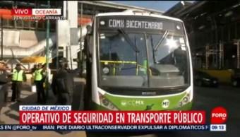 Refuerzan vigilancia en transporte público