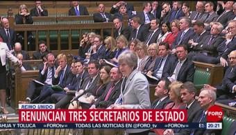 Foto: Renuncian Tres Secretarios Británicos Desacuerdo Theresa May 25 de Marzo 2019