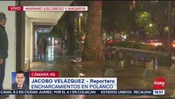 Foto: Reportan encharcamientos en Polanco