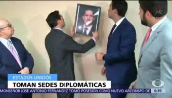 Representantes de Guaidó acceden a tres sedes diplomáticas en EU