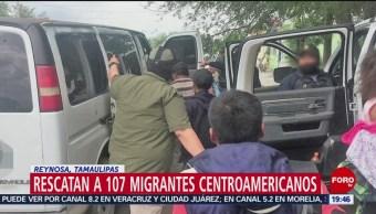 FOTO:Rescatan a 107 migrantes centroamericanos en Reynosa, Tamaulipas, 23 Marzo 2019