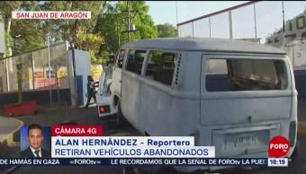 FOTO: Retiran vehículos abandonados en calles de CDMX, 25 de marzo 2019