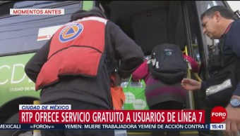 Foto: RTP ofrece servicio gratuito a usuarios de la Línea 7 del Metro