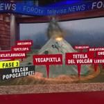 Foto: Rutas de evacuación del Popocatépetl en mal estado
