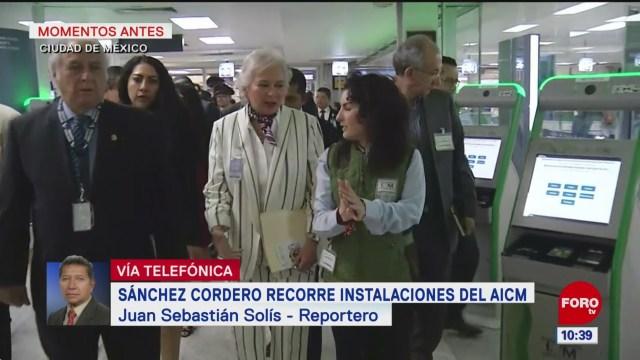 Foto: Olga Sánchez Cordero Recorre Instalaciones AICM Aeropuerto Paisano 29 de Marzo 2019