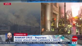 Se incendia negocio en el Centro de la CDMX