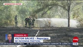 FOTO:Se incendia pastizal en Alameda Poniente de Santa Fe, 23 Marzo 2019