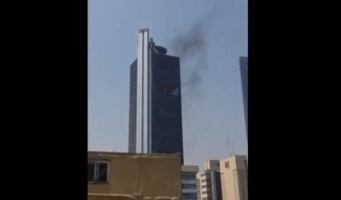 FOTO Se registra columna de humo en Torre Bancomer CDMX FOROtv 14 marzo 2019 cdmc