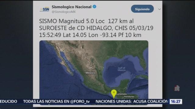 se registra sismo de magnitud 5 0 en chiapas