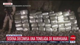 Foto: Sedena decomisa una tonelada de marihuana